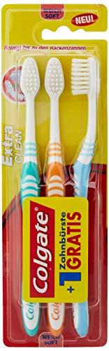Colgate Extra Clean Soft Zahnbürste, 3er Pack (3 x 1 Stück)