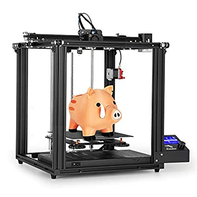 Comgrow Creality Ender 5 3D Printer, Stable Cubic Design and Cmagnet Heat Bed Sticker 220x220x300mm Print Size