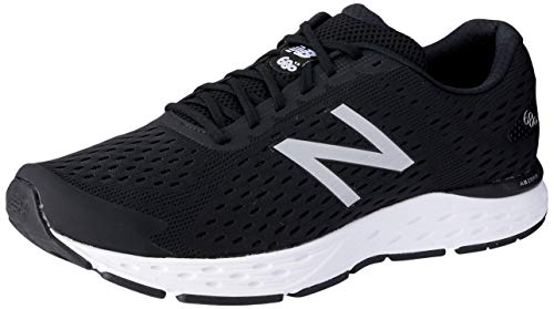 New Balance Men's 680 V6 Running Shoe, Black/Silver Metallic, 8.5 M US