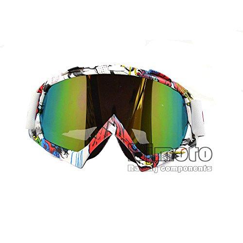Lunettes de motocross, moto Bike Moto Ski Ski Snow Snowboard Dirt bike d'équitation Cyclisme Off Road Lunettes Eyewear Accessoires Vent poussière protection
