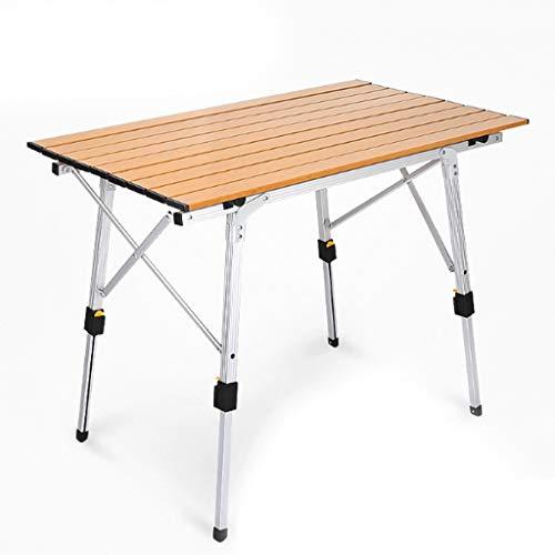 LZL Klappbarer Camping Tisch Outdoor-Lift-Falten-tragbarer Picknick-Camping-Tisch mit Aluminiumbeinen einstellbar Höhen-Roll-Up-Tisch-Top-Mesh-Schicht Klapptisch (Color : B)