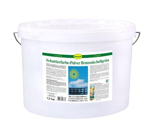 Schattierfarbe-Pulver Brunonia grün á 7,5 kg