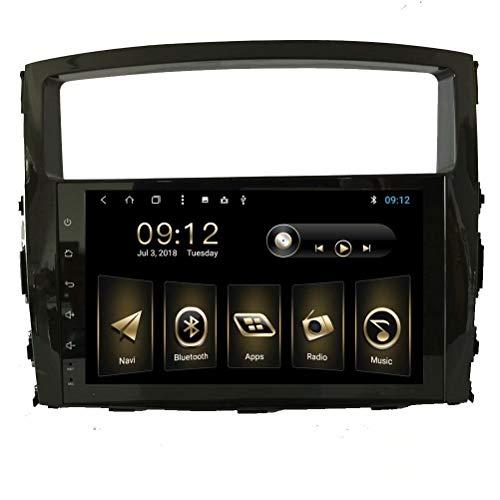 Autoradio 9 Pouces pour Mitsubishi Pajero 2009 2010 2011 2012 2013 2014 2014 Android 8.1 Stéréo de Navigation GPS Automatique avec 3G WiFi Lien de Miroir RDS Bluetooth SWC Support caméra de recul