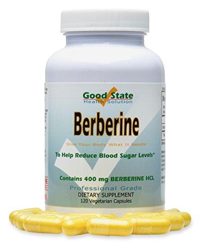 Good State | Berberine HCL | Cholesterol & Sugar Balance | Professional Grade | 120 Capsules