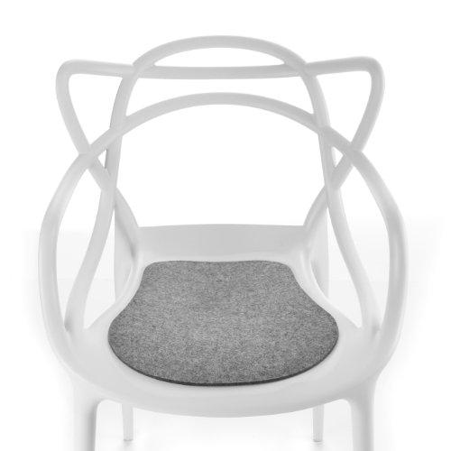 Hey Sign Masters Sitzauflage antirutsch, hellmeliert Filz in 5mm Stärke LxBxH 37x35x0,5cm