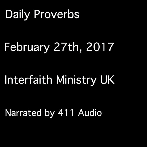 Daily Proverbs, February 27, 2017 audiobook cover art