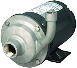 AMT Pump 5493-98 High Volume Straight Centrifugal Pump, Stainless Steel, 2 HP, 3 Phase, 230/460V, Curve E, 2