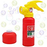 JOYIN Automatic Bubble Maker Fire Extinguisher Bubble Blower Machine with Bubble Solution (100 ml) for Kids, Indoor and Outdoor Play, Summer Themed Party and Birthday