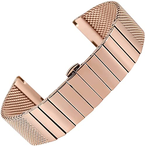 chenghuax Correas de reloj, 18 mm, 20 mm, 22 mm, 24 mm, Rosegold de acero inoxidable, repuesto de alta calidad, correa de reloj de pulsera, correa de reloj de repuesto