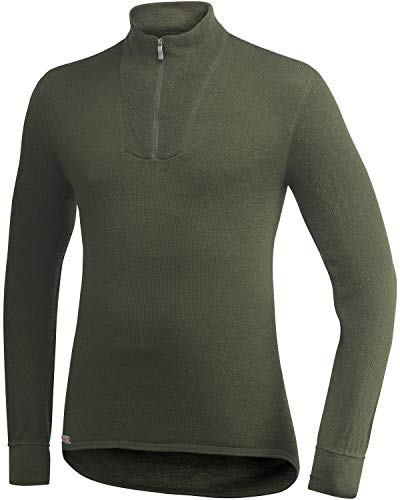 Woolpower Damen Herren Funktionsshirt Zip Turtleneck 400 Long Sleeve, Größe:S, Farbe:Pine Green*