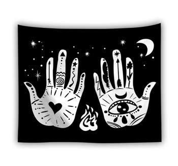 KHKJ Tapiz de Tarot para Colgar en la Pared The Moon The Star Tapices Manta Colcha Toallas de Playa Estera de Picnic A18 150x200cm