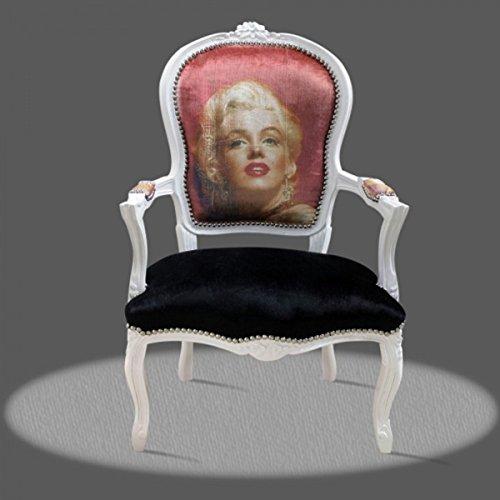 Casa Padrino Barock Salon Stuhl Marilyn Monroe - Barock Antik Stil Möbel