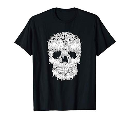 Disfraz de calavera divertido Hombres Mujeres Amantes de los Camiseta