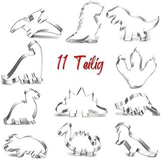 Anokay Lot de 7 emporte-pièces en acier inoxydable pour enfants Motif dinosaures