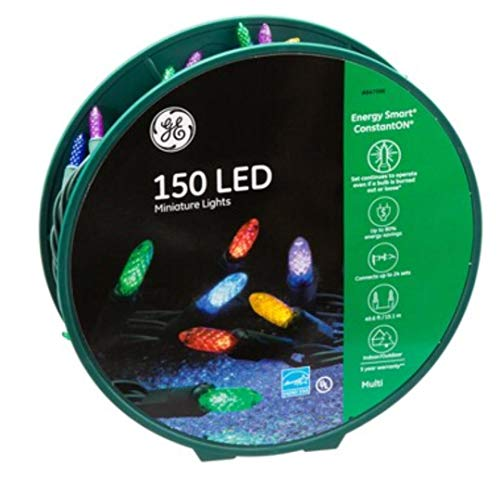 GE Energy Smart 150-Count 49.6-ft Constant Multicolor Mini LED Plug-in Christmas String Lights...