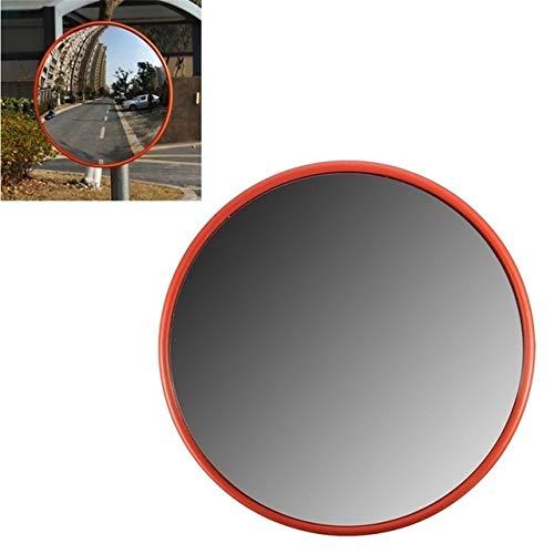 Hcxh-30cm Espejo de Seguridad Vial de Ancho Curvo for antirrobo de Interior al Aire Libre Safurance señal de tráfico de la Seguridad Vial Espejo Convexo (Ora (Color : Orange)