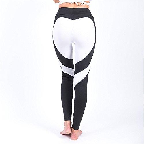 Zjcpow Pantalones de yoga para mujer, de cintura alta, ajustados, pantalones de yoga, elásticos, para entrenamiento, gimnasio, correr, deportes, adelgazar pantalones activos (color: A5, tamaño: M)