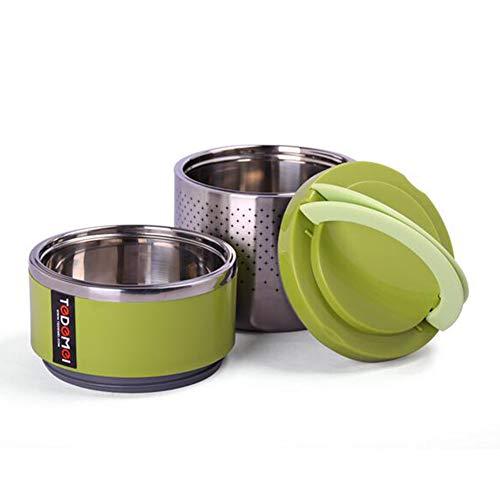 Isolierbehälter Essenbehälter Foodbehälter Thermobehälter Mit 2 Boxen,...