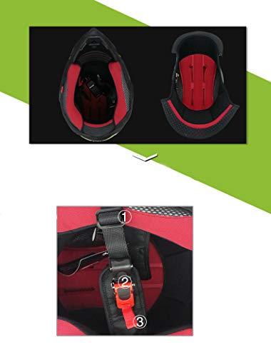 Woljay Off Road Helm Motocross-Helm Motorradhelm Motocrosshelme Fahrrad ATV (L, Schwarz) - 4