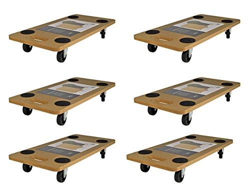 SET x 6 Transportroller 58x29 Rollbrett Transportbrett Möbelroller Transporter Roller