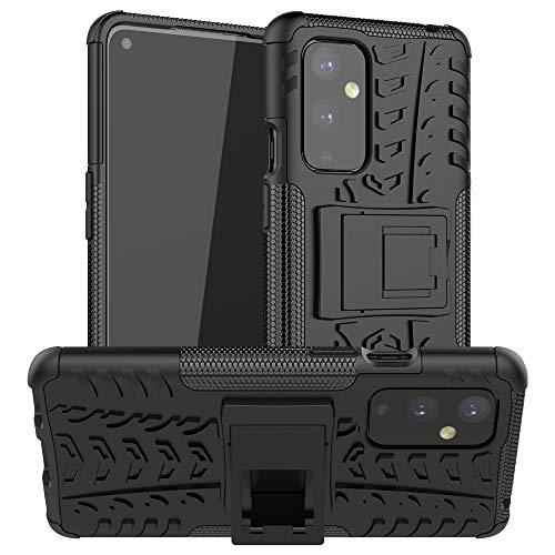 Easyshow Funda Tough Armor para OnePlus 9 Tapa Trasera Dura Antigolpes con Función de Soporte Protector Carcasas y Fundas para OnePlus 9-Negro