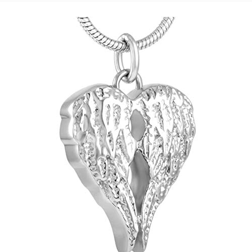 Wxcvz Colgante para Conmemorar Gran Oferta De Accesorios De Acero Inoxidable con Diseño Único Y Colgante, Collar, Joyería De Cremación para Mujer