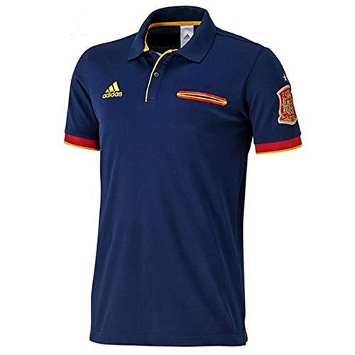 adidas Hombres Camiseta España Fútbol Polo, la Marina, S