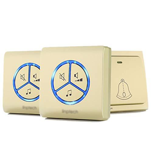 XZ15 draadloze deurbel met eigen voeding, waterdichte oude bellers voor afstandsgesprekken B