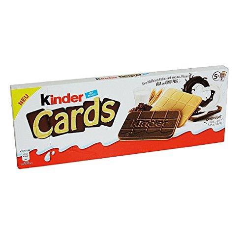 Neu Kinder Cards Waffel mit scholokade schoko riegel 5 Stück kekse waffel 128 g
