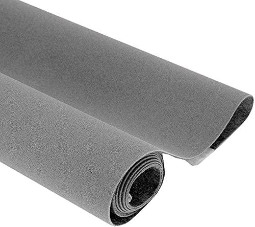 14.5'x78.7' Self Adhesive Velvet Drawer Liner Roll Felt Fabric Velvet Flocking Liner for Jewelry Drawer Box Shelf Crafts (Grey)