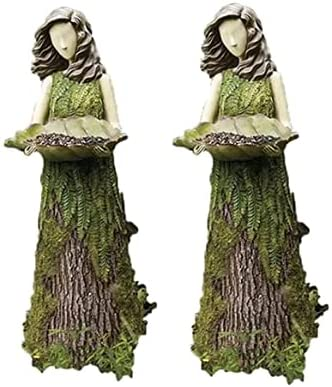 LEFUYAN 2Pcs Sherwood Fern Fairy with Feeder Ranking TOP14 Resi Philadelphia Mall Bird Statuary