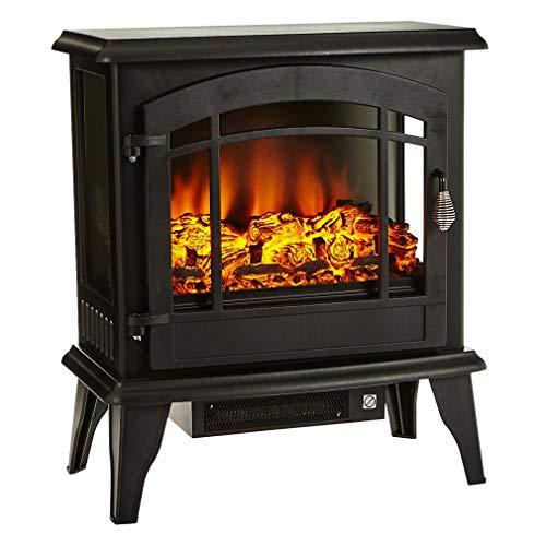 20 Zoll Elektrokamin mit Fernbedienung,1800W LED Kaminfeuer Dekokamin Einstellbare Temperatur,Flammeneffekt 3 Stufen Einstellbar