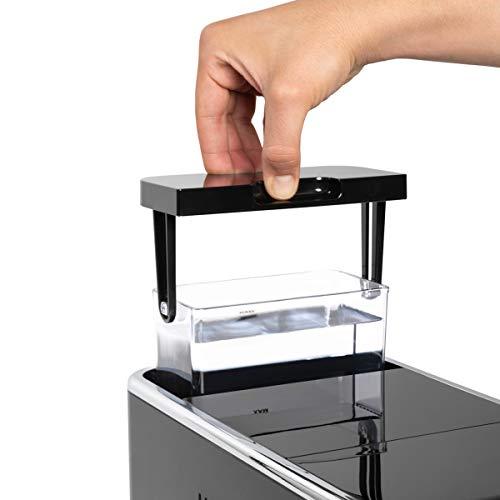 Solac-CA4810 Automatic Coffeemaker. Cafetera Súper Automática,19 bar, 1470W. Diseño compacto 18cm. Café en 40s. Capuccinador. Opción Autolavado. Café espresso, suave y favoritos personalizables. Negra