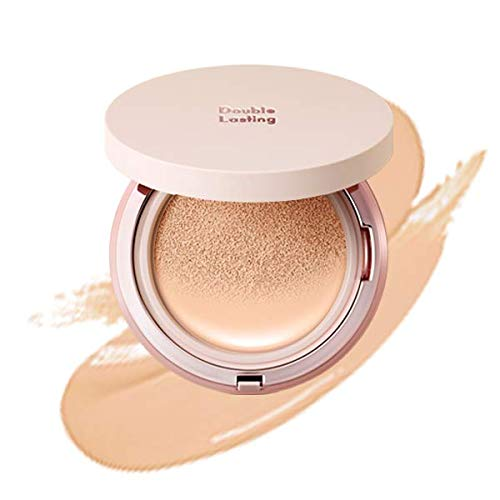 ETUDE HOUSE Double Lasting Cushion Glow (C21 Petal) SPF 50+ PA+++| 24-Hours Lasting Cushion with a Radiant Natural Finish