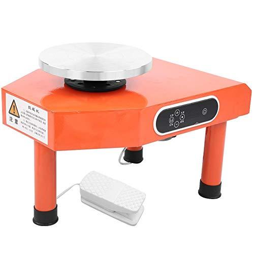Rueda de cerámica eléctrica,25CM Plato giratorio de 250W/350W Moldeadora de cerámica con conjunto de herramientas de modelado Y lavabo extraíble (Naranja)(350W)