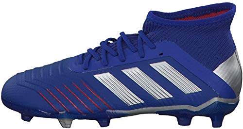 Adidas Predator 19.1 FG J, Botas de fútbol Unisex Adulto, Multicolor (Azufue/Plamet/Fooblu 000), 37.5 EU