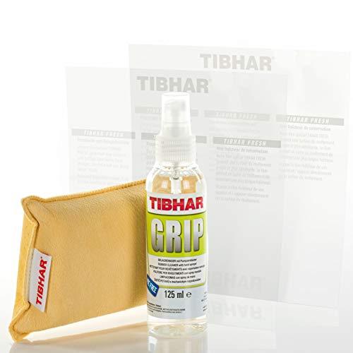 TIBHAR Juego de limpieza para tenis de mesa Plus 2 protectores de pantalla Fresh | Limpiador de pastillas con esponja combinada | Set de limpieza | Spray de revestimiento | Spray pulverizador | 125 ml