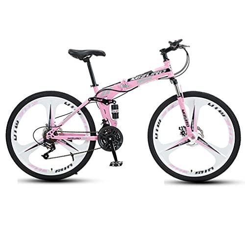 Bicicleta De MontañA Plegable,Bicicleta De Ciudad,MúLtiples Opciones De Modo De Velocidad,Ruedas Triaxiales De 26 Pulgadas,Adecuado Para Hombres/Mujeres/Adolescentes,Varios Colores