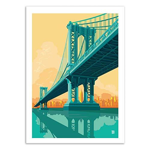 Wall Editions Art-Poster - Manhattan Bridge - Remko Heemskerk