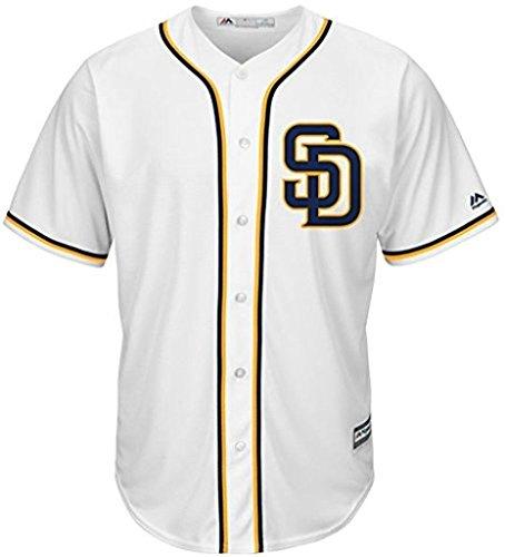 VF Padres Mens Alternate Cool Base Replica White Jersey Big & Tall Sizes (4XT)