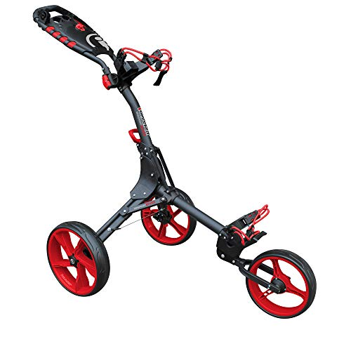 Masters Golf - iCart Compact Evo Push Trolley Grey/Red
