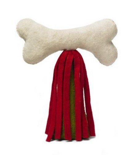ARCADIA HOME TTF6 Dog Bone Christmas Tree Topper, Multicolored