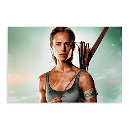 Póster decorativo de la película Tomb Raider de 2 pósteres de pintura para pared, para sala de estar, dormitorio, 40 x 60 cm, estilo Unframe-1