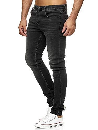 Tazzio Jeans Skinny Fit Herren Jeanshose Stretch Designer Hose Denim 19534 (Anthrazit, 34W/32L)