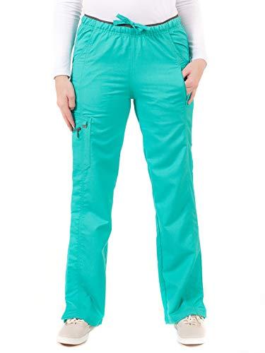 LifeThreads Ergo - Pantalón de carga para mujer, antimicrobiano, resistente a fluidos, Seabreeze, XS Alto