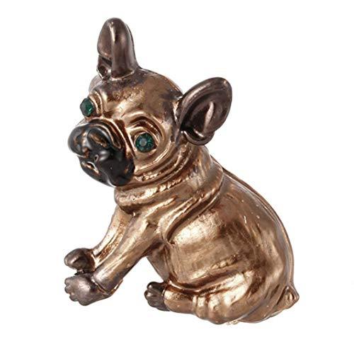 N-K PULABO - Broche de perro con diseño de caricatura de 2 colores para mujeres y hombres, accesorios para la ropa, accesorios de la bolsa de accesorios de color dorado, exquisita mano de obra de moda