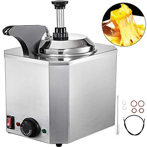 VEVOR Elektrischer Fudge mit 1 pumpe Käse Schokolade Spender Wärmer für Restaurant usw.