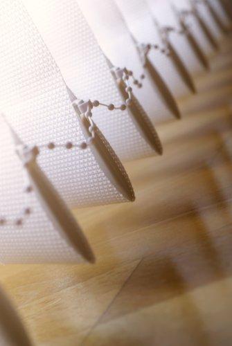 Vertikal Lamellen Vorhang / Vertikal Jalousie Vorhang / Vertikal Anlage Breite 100 x Höhe 250 cm in weiß von Sunfree
