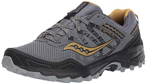 Saucony Men's Grid Excursion TR12 Trail Running Shoe, Silver | Gold, 10.5 M US