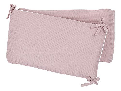 KraftKids Protector de cuna para cuna de 140 x 70 cm, color rosa